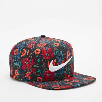 Nike Pro Floral Snapback Cap in Orange and Red - Urban Outfitters