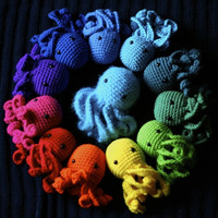Octopus Plushes: Choose Two Amigurumi of Any Colors! by alyssacritt