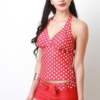 Polka Dot Tankini Set by AFTERLIFE CLOTHING