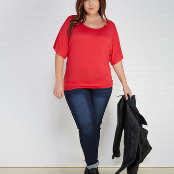 Dolman Tee With Banded Hem | Wet Seal+