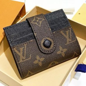 LV Louis Vuitton New fashion monogram leather wallet purse women
