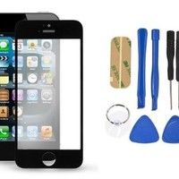 Replacement LCD Front Screen Glass Lens + Tools for iPhone 5 5G 5S 5C Black