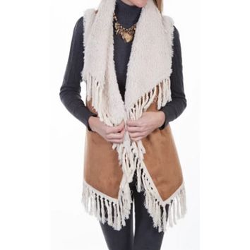 Scully Shearling Collared Vest