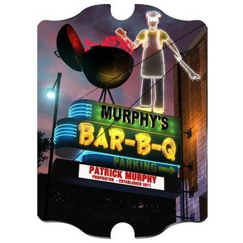 Marquee Vintage Sign - BBQ