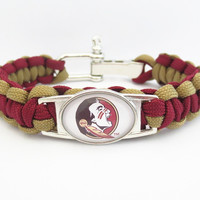 Florida State Paracord Football Sports Bracelet - 50% OFF Today