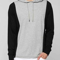 The Narrows Colorblock Pullover Hoodie Sweatshirt- Charcoal M