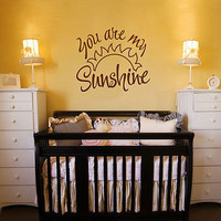 'you are my sunshine' wall quote by aijographics   notonthehighstreet.com