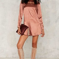 Glamorous Cross for Words Mini Dress