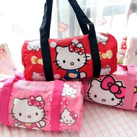 Cartoon Hello Kitty the littleTwin Star Handbags Women Travel Bag Girls Shoulder Bag Big Capacity Travel Luggage bag canvas Tote