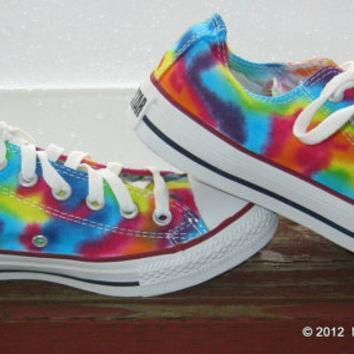 made to order tie dye converse shoes women size lo top