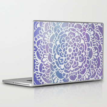 Purple Sparkle - Doodle pattern with purple galaxy/sparkle Laptop & iPad Skin by Tangerine-Tane