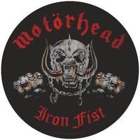 Motorhead Men's Iron Fist Back Patch Black