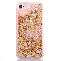 Gold Cascading Glitter Case for iPhone 7 7 Plus