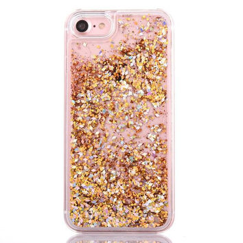 Gold Cascading Glitter Case for iPhone 7 from My Case is Cuter ef0130807