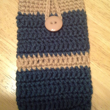 Smart Phone Cozy, handmade crochet cozy, fits most smartphones