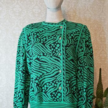Vintage 1980s Artsy + Abstract Statement Sweater