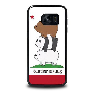 we bare bears california republic samsung galaxy s7 edge case cover  number 2