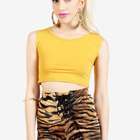 Camden Crop Top - Mustard