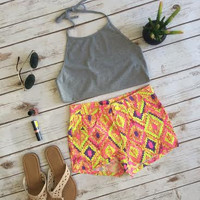 Aztec Highlight Shorts from shopoceansoul