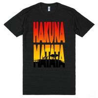 Hakuna Matata (Athletic)-Unisex Athletic Black T-Shirt