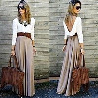 Party Dress Women Clothes Women Lady Sexy Summer Dresses Boho Maxi Long Sleeve Brief Cocktail