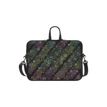 Personalized Laptop Shoulder Bag Psychedelic Pastel Handbags 13 Inch