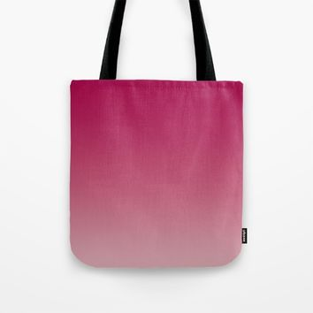 Bright Rose Ombre (Reverse) Tote Bag by Lindsay