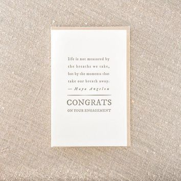 Congrats Engagement Quote Card