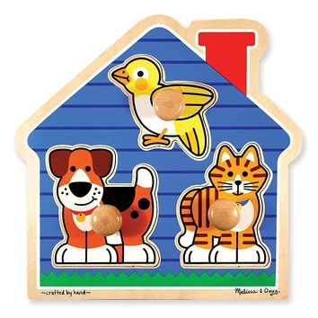 Melissa & Doug 2055 Pet Animals Knob Wooden Puzzle
