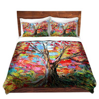 Duvet Cover collaboration between Aja and DiaNoche Designs, King, Queen, Twin, Toddler, Story of a Tree 59