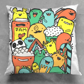 my doodle monsters pillow