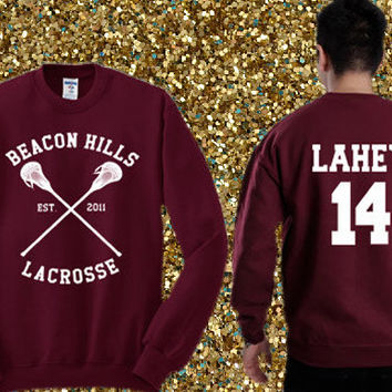 Beacon Hills Lacrosse - Isaac Lahey 14 Sweater , crewneck sweater available for men and woman unisex adult