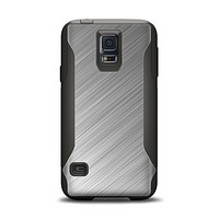 The Silver Brushed Aluminum Surface Samsung Galaxy S5 Otterbox Commuter Case Skin Set