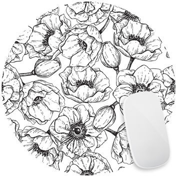 Flower Power Mouse Pad Decal