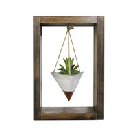 Hanging Planter, Wall Planter, Air Planter, Concrete Planter, Succulent Planter, Modern Planter, Air Plant Holder, White Planter, Shadow Box