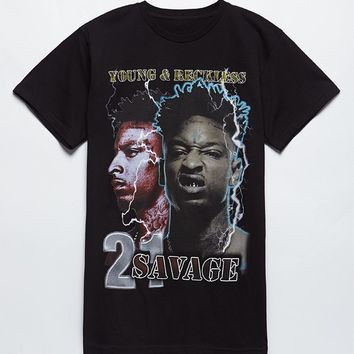 Young and Reckless x 21 Savage AKA The Reaper T-Shirt at PacSun.com