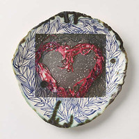 Anthropologie - Ribbon Heart Plate