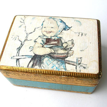 Vintage Music Box, Swiss Music Box, Florentine Style Music Box, Music Box Made in Switzerland, Raindrops Keep Falling on my Head