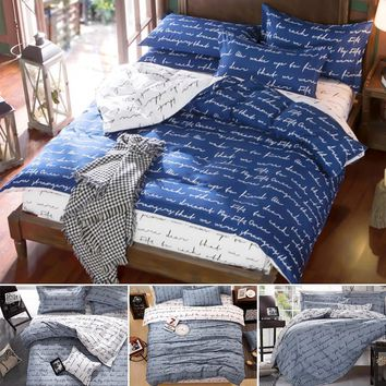 Cool Love Pattern Bedding Set Polyester Duvet Cover Set Comforter Bedding Set Printing Bed Sheet Cover Single Duble Queen King SizeAT_93_12