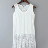 Sleeveless Lace Embroidered Top