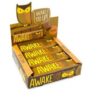 Awake Caffeinated Caramel Bars 12 Count