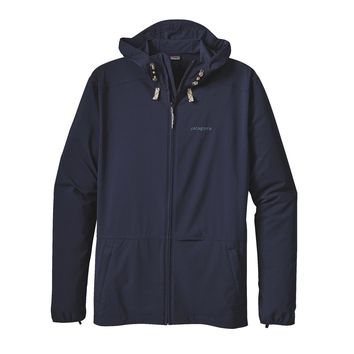 Patagonia Men's Stretch Terre Planing Hoody | Grid Man: Navy Blue