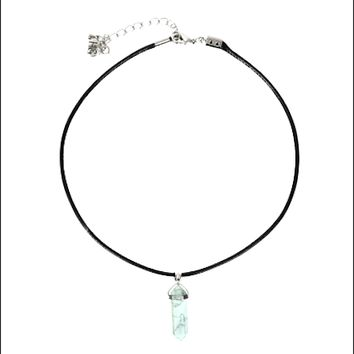 Crystal Point Choker (Howlite)