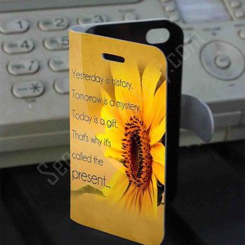 yesterday is history Leather Folio Case for iPhone and Samsung Galaxy