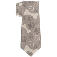DCCKJY1 Dog Bone Treat Fun Pattern All Over Neck Tie