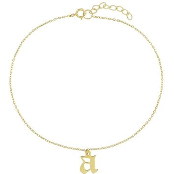 Gothic Initial Dangle Anklet