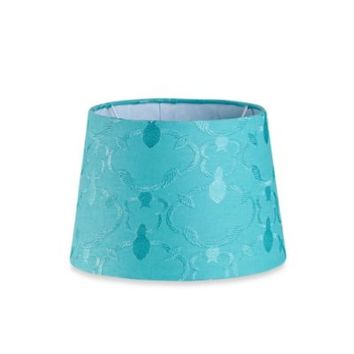 Mix & Match Small 10-Inch Embroidered Hardback Drum Lamp Shade in Teal