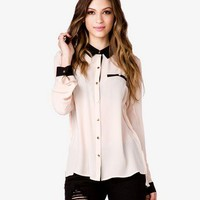 Contrast Georgette Shirt | FOREVER 21 - 2040495868