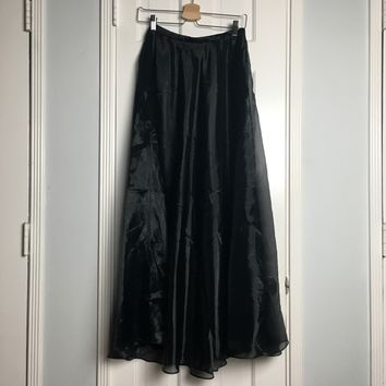 JS collections black long maxi skirt sz 8