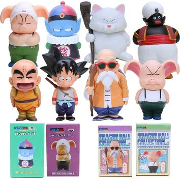 12-22cm Dragon ball Z figures Oolong Goku Mater Roshi Popo Pilaf Karin Toriyama PVC Action figure chidren toy Retail